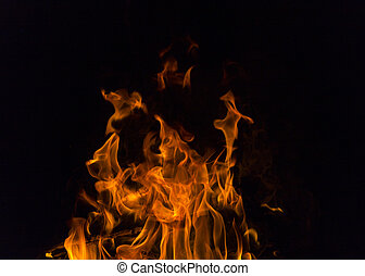 Fire flames. - Illustration of Realistic Burning Fire Flame...