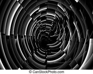Abstract fractal tunnel - digitally generated image -...