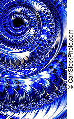 Abstract fractal spiral - digitally generated image -...