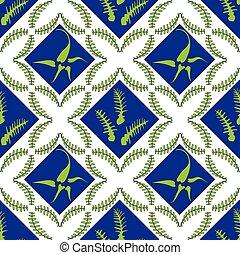 Fern Leaves Seamless Pattern
