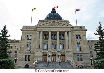 Regina Legislature building, Saskatchewan, Canada.