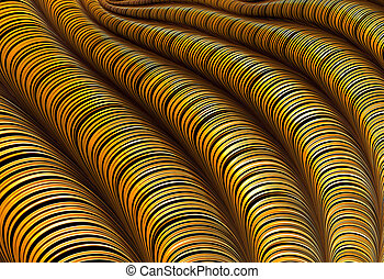 Striped pipes - abstract digitally generated image - Striped...