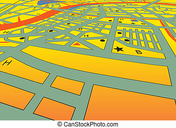 City streets - Vector angled streetmap of a generic city...
