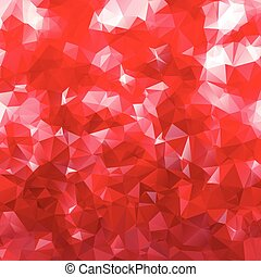 Abstract vector background for design with red polygons