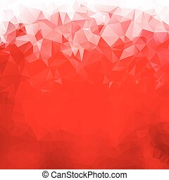 Abstract red gradient polygons