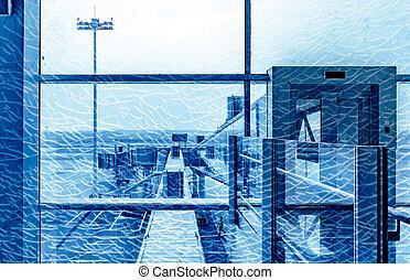 Airport boarding bridge - The boarding bridge was taken...