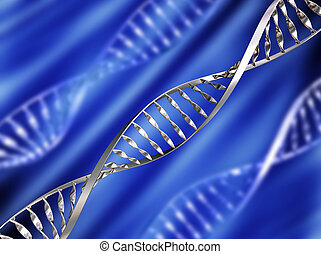 DNA background - DNA strands on abstract background
