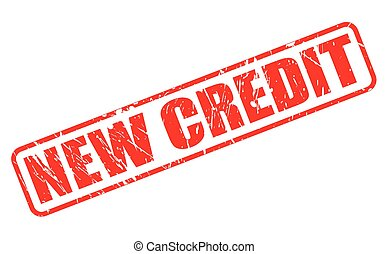 NEW CREDIT red stamp text on white