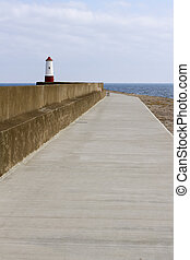 Small red and white lighthouse - Lighthouse in Berwick upon...