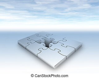 Missing puzzle piece - illustration of puzzle piece missing...