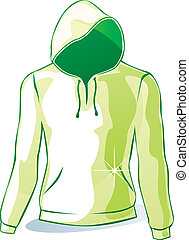 isolated hoodie - fully editable vector illustration of...