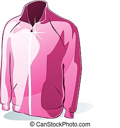 isolated jacket - fully editable vector illustration of...