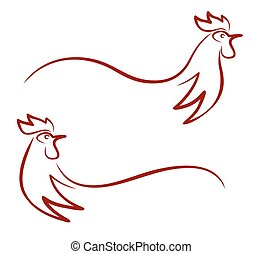 Rooster logo.