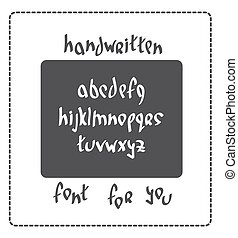 hand written font - Hand written font lowercase english...