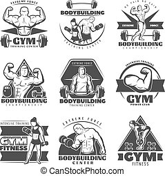Vintage Body Building Label Set - Vintage body building...