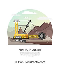 Orthogonal Mining Industry Concept