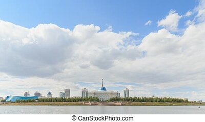 Akorda Palace of Independence. View from the river. Astana,...