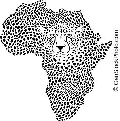 Symbol Africa in cheetah camouflage.eps