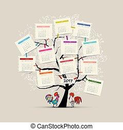 Calendar tree 2017 for your design - Calendar tree 2012 for...