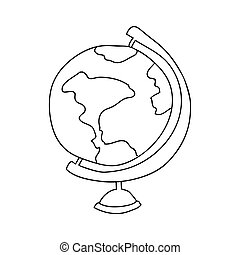 monochrome contour with map of the world