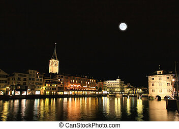 St Peters Church tower in Zurich - St Peters Church tower...