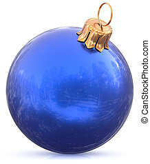 Christmas ball bauble New Year's Eve blue decoration modern