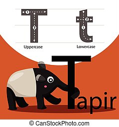 Illustrator of tapir with t font