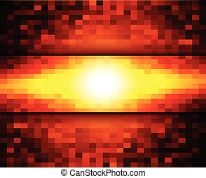 Abstract warm mosaic background - Abstract warm background,...