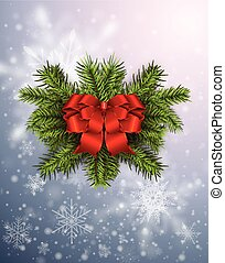Christmas background with snowflakes, winter design with...