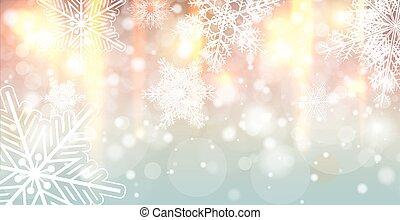 Christmas background with snowflakes, winter vector...