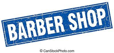 loja, selo, quadrado, barbeiro