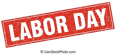 labor day square stamp