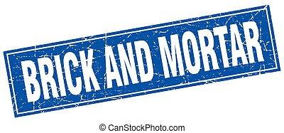 brick and mortar square stamp