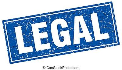 legal square stamp