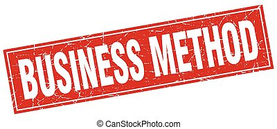 business method square stamp