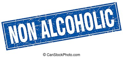 non alcoholic square stamp
