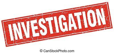 investigation square stamp