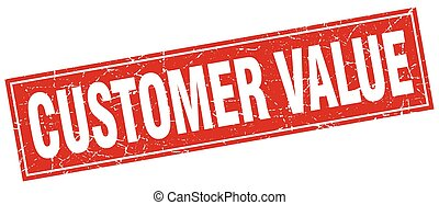 customer value square stamp