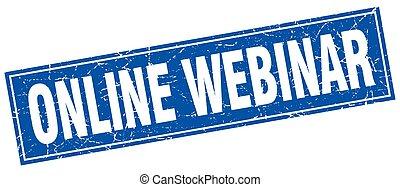 online webinar square stamp