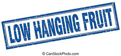 low hanging fruit square stamp