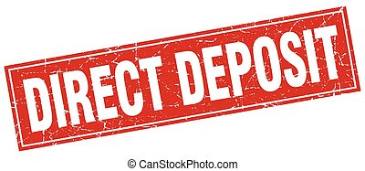 direct deposit square stamp