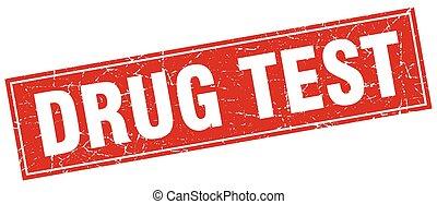drug test square stamp