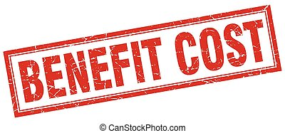 benefit cost square stamp