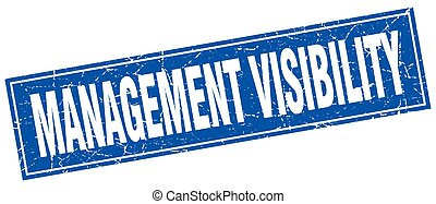 management visibility square stamp