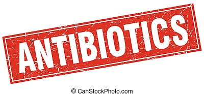 antibiotics square stamp