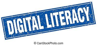 digital literacy square stamp