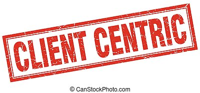 client centric square stamp
