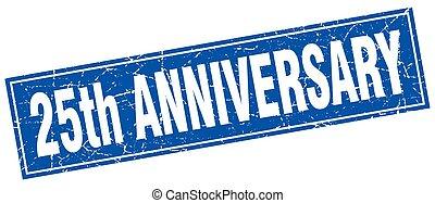 25th anniversary square stamp