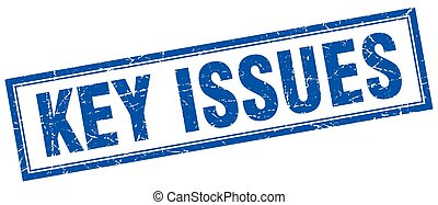 key issues square stamp
