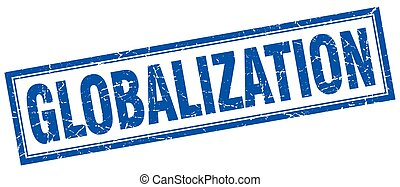 globalization square stamp